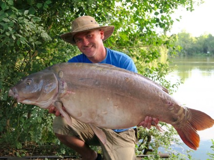 Les Quis Old Lake 43lb Mirror Carp July 2017