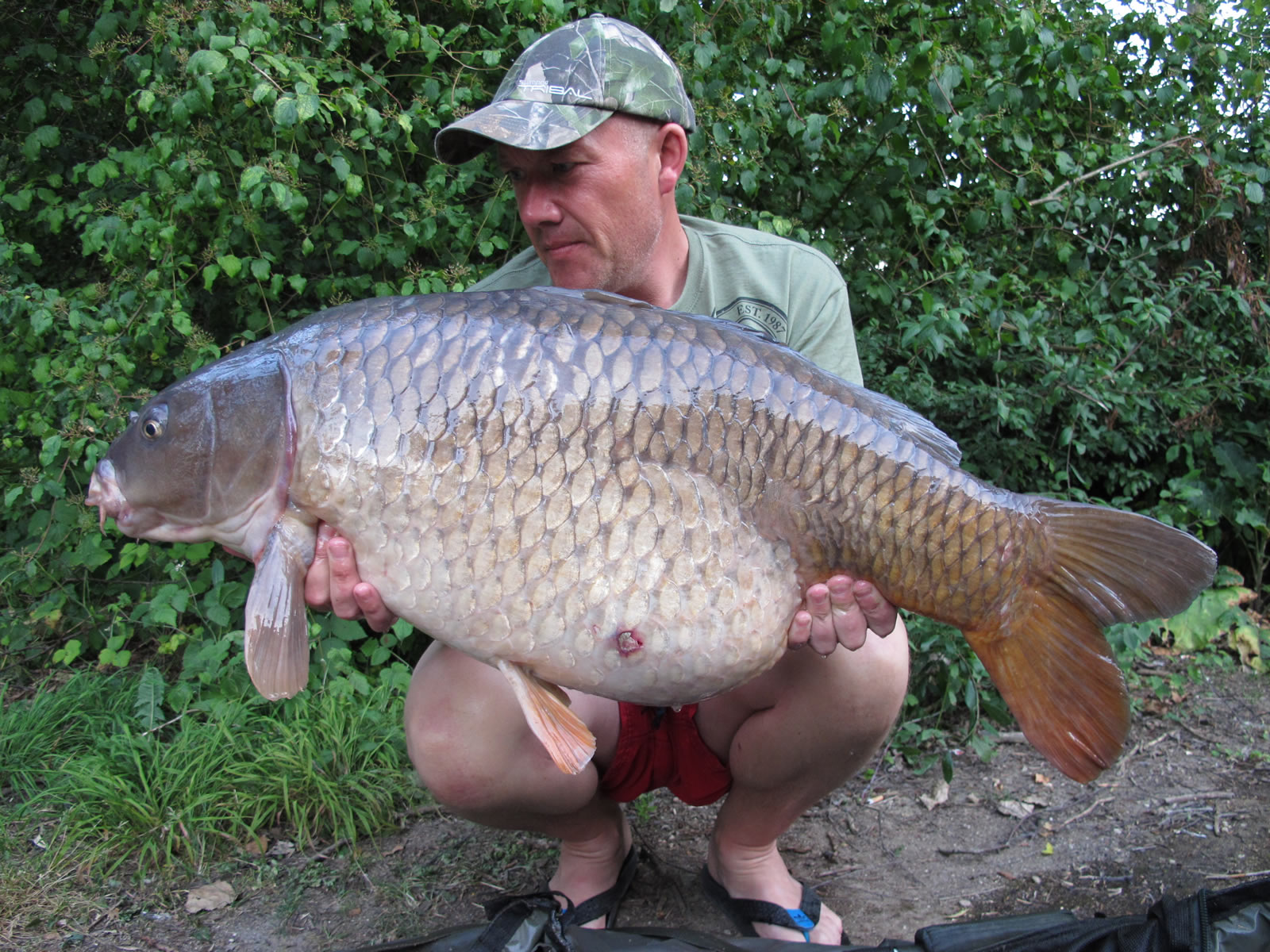 Ian McMillan with a large Common at Les Quis France