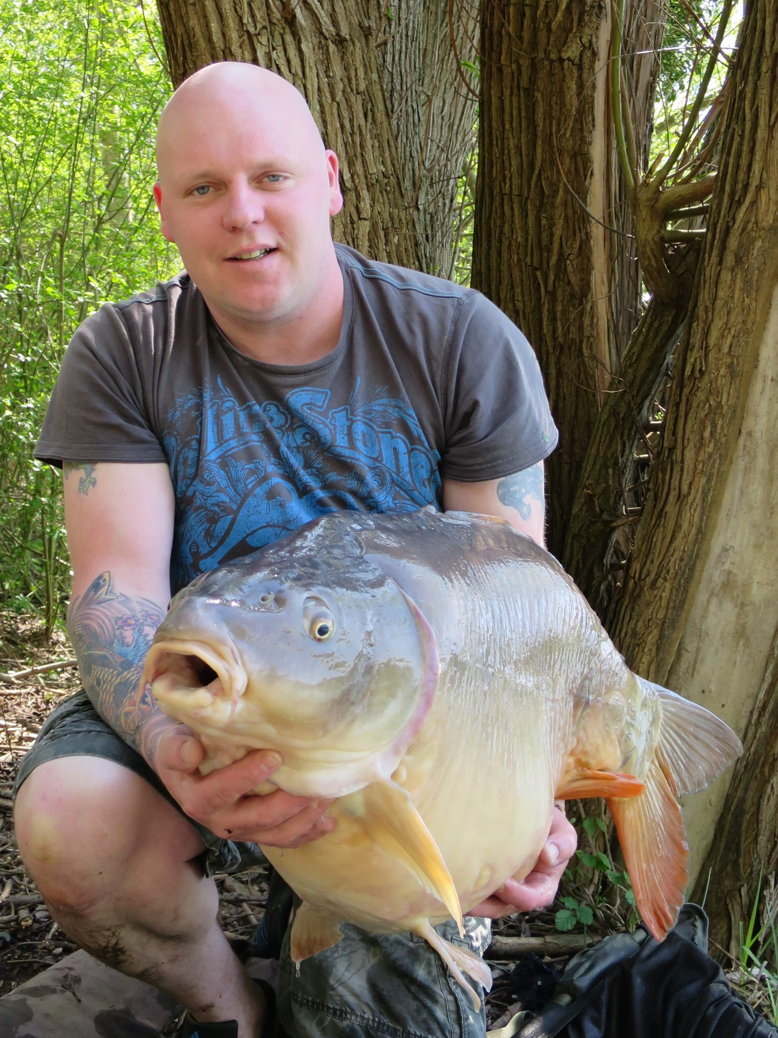 Nick with a 46ilb Mirror From Les Quis France