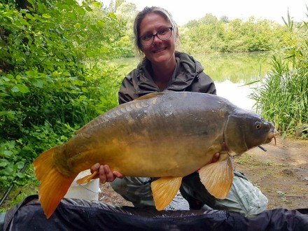 Les Quis 2017 Sabrina on the Bay Lake Mirror Carp
