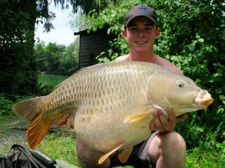 Les Quis July 2017 Adam 46lb Common Carp Elf Lake